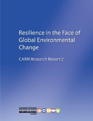 Resilience in the Face of Global Environmental Change