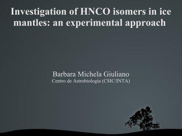 Overview: CHNO isomers - Centro de Astrobiología