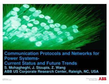Communication Protocols and Networks for Power Systems ... - aceps