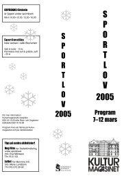 Page 1 S P O R T L O V 2005 S P O R T L O V 2005 Program 7–12 ...