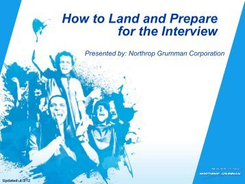 How to Land and Prepare for The Interview - Northrop Grumman ...