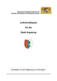 Luftreinhalteplan - Regierung von Schwaben - Bayern