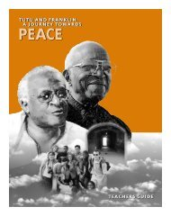 Tutu and Franklin: A Journey Towards Peace - PBS