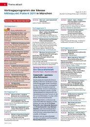 Vortragsprogramm der Messe Mittelpunkt Patient 2011 in ... - Topfit