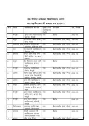 List of Affiliated Colleges 2012-13