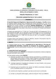 Pregão Presencial 007/2013: VEÍCULO TIPO PICK-UP - Crea-RJ