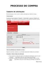 Manual do Úsuario novo portal de compras do Estado de MG