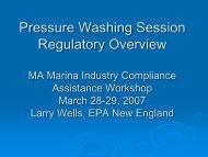 Pressure Washing Regulatory Overview, Larry Wells, EPA