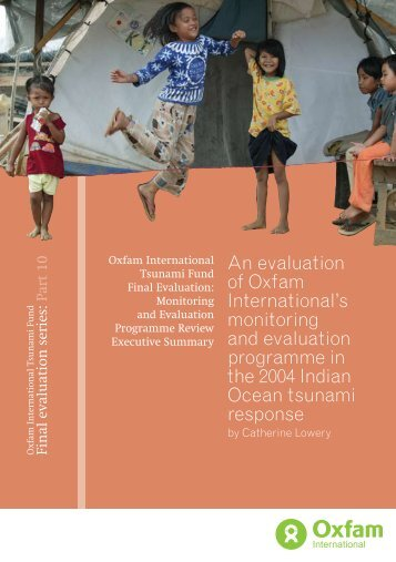 Monitoring and evaluation programme summary report - Oxfam ...