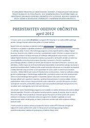 PREDSTAVITEV ODZIVOV OBČINSTVA april 2012 - RTV Slovenija