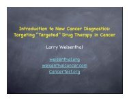 """Targeting """"Targeted"""" Drug Therapy in Cancer Larry Weisenthal ..."""