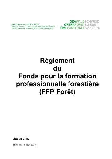 Règlement du Fonds pour la formation professionnelle ... - Codoc