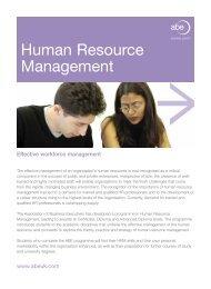 Human Resource Management - Association of Business Executives