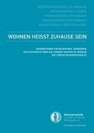 WOHNEN HEISST ZUHAUSE SEIN - Behindertenhilfe Offenbach