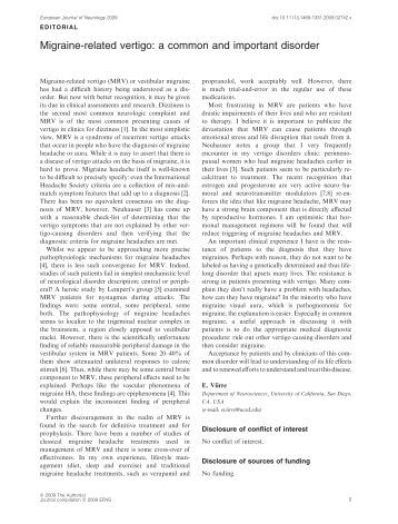 Publication  PDF   Update of Chronic Tension Type Headache