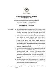 Peraturan Presiden No.83 Tahun 2005 - BNPB
