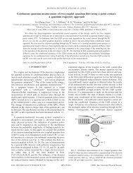 Continuous quantum measurement of two coupled quantum dots ...
