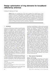 Design optimisation of ring elements for broadband reflectarray ...