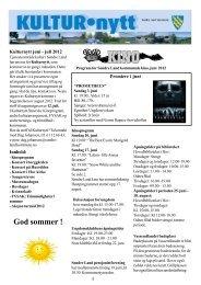 Kulturnytt juni/juli 2012 - Søndre Land kommune