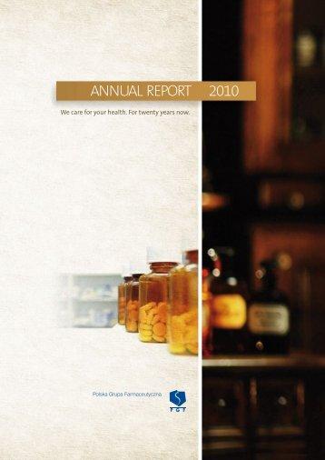 ANNUAL REPORT 2010 - Pelion.eu