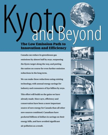 Kyoto and Beyond: Summary - Climate Action Network Canada