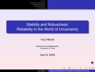 Stability and Robustness: Reliability in the World of Uncertainty