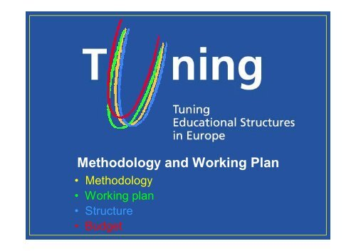 TUNING methodology review - HERODOT Network for Geography in ...
