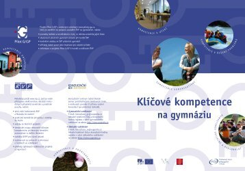 Klíčové kompetence na gymnáziu - Výzkumný ústav pedagogický v ...