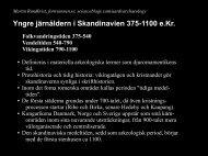 Yngre järnåldern i Skandinavien 375-1100 e.Kr. - ScienceBlogs