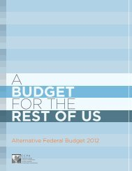 Alternative Federal Budget 2012 - Canadian Centre for Policy ...