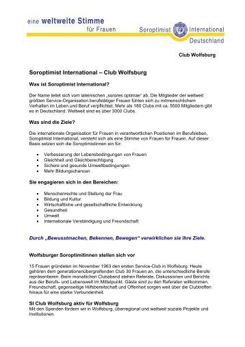 eine weltweite Stimme - Soroptimist Club Wolfsburg