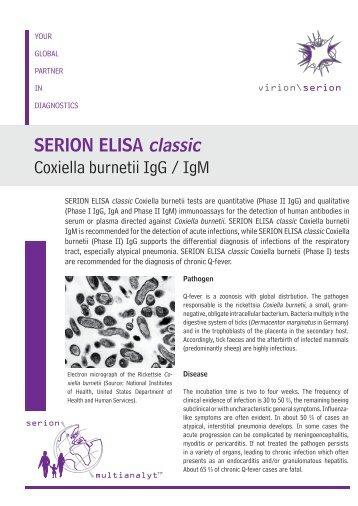 SERION ELISA classic Coxiella burnetii IgG / IgM