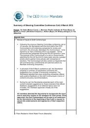 Summary of Steering Committee Conference Call, 6 March 2012