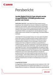 Download het volledige persbericht [PDF, 94 KB] - Canon