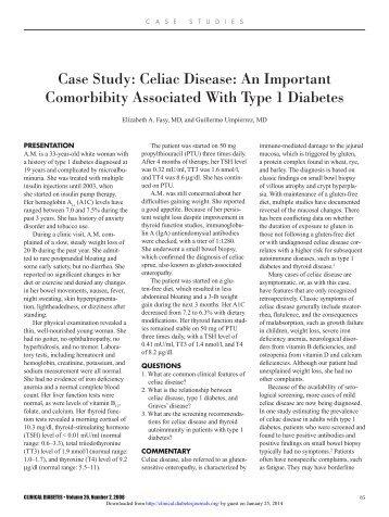 Case Study: Celiac Disease: An Important ... - Clinical Diabetes