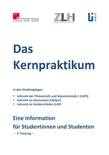 """Das Kernpraktikum"" (pdf) - ZLH-Hamburg"