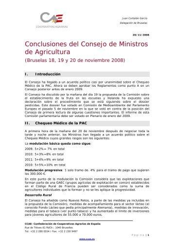 informe resumen del congreso de ministros de agricultura que ...