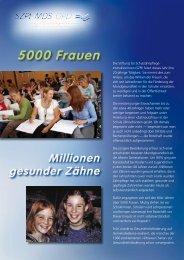 5000 Frauen - Stiftung für Schulzahnpflege-Instruktorinnen SZPI