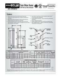 Solar Water Heater - Heat Transfer Products, Inc