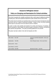 Charging and Remission Policy July 2012-2013 - Howard of ...