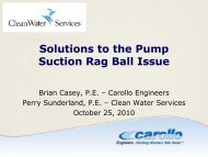 Solutions to the Pump Suction Rag Ball Issue - pncwa