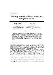Proceedings CPAIOR'02 0r3nin@ B3DEoItiTaW Bearce DranceeB ...