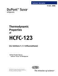 Thermodynamic Properties of HCFC-123 Refrigerant - DuPont