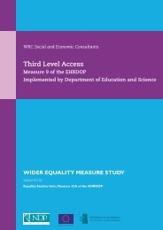 Third Level Access Wider Equality - European Social Fund Ireland