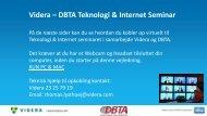Videra – DBTA Teknologi & Internet Seminar