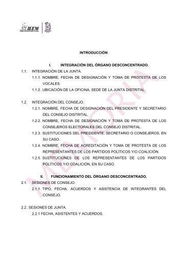 memorias 2009 distrito xi santo tomás - Instituto Electoral del Estado ...