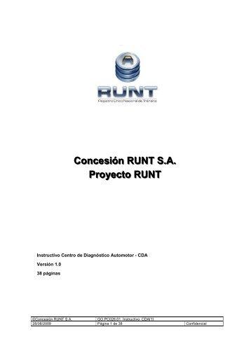 Instructivo Centros de Diagnóstico Automotor (CDA) - Runt