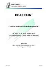 Prozessorientiertes IT-Qualitätsmanagement [222 KB] - CC GmbH