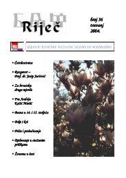 broj 36 travanj 2004. - Hrvatska kulturna zajednica Wiesbaden