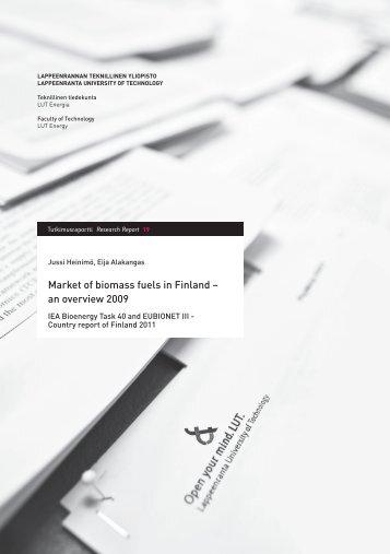 Finland 2011 - IEA Bioenergy Task 40